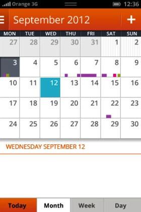 A full fledged calendar