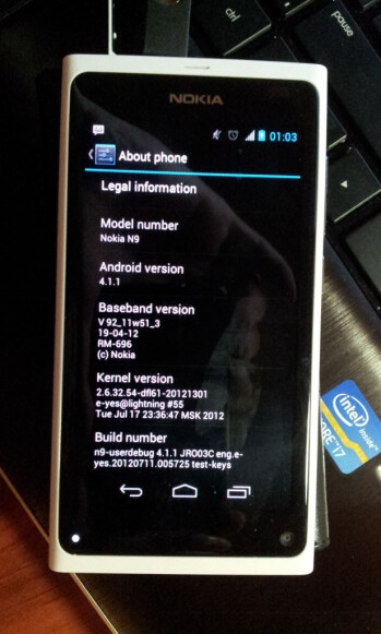 Android 4.1 Jelly Bean ported to the Nokia N9