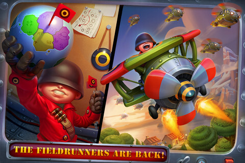 Fieldrunners 2 for iOS screenshots
