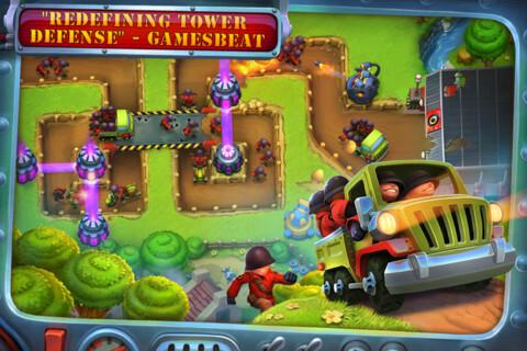 Fieldrunners 2 for iOS screenshots