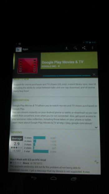 The Google Nexus 7 and the light bleeding issue