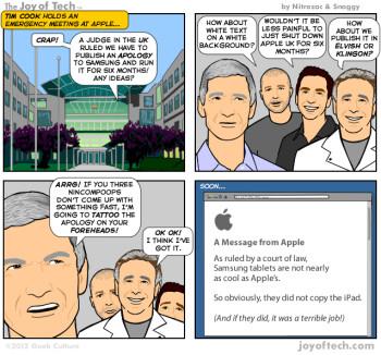 Making fun of the Apple-Samsung U.K. patent wars
