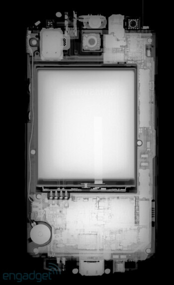 Innards of the Galaxy S III exposed without disassembly thanks to x-ray