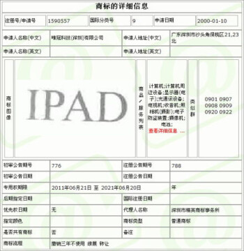 The Chinese iPad trademark  bought by Apple for $60 million
