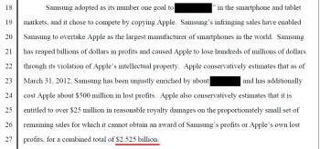 Apple demands big bucks from Samsung