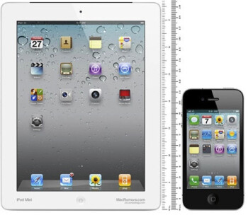 Mock-up of the Apple iPad mini and an Apple iPhone, courtesty of Ciccarese Design
