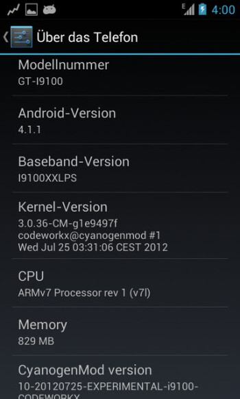Samsung Galaxy S II gets some preview CM10 Jelly Bean love in its turn