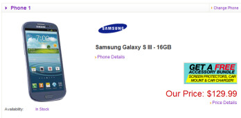 Buy the Samsung Galaxy S III for just $116.99 with Free Shipping from Let's Talk