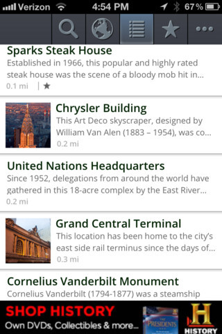 HISTORY here for iPhone