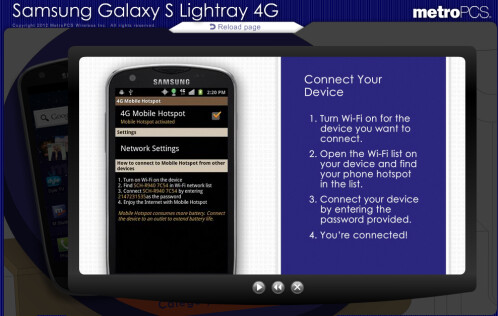Samsung Galaxy S Lightray 4G for MetroPCS