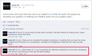 Sony's last year Xperia smartphones not getting Jelly Bean update?