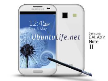 Samsung Galaxy Note II mock-up