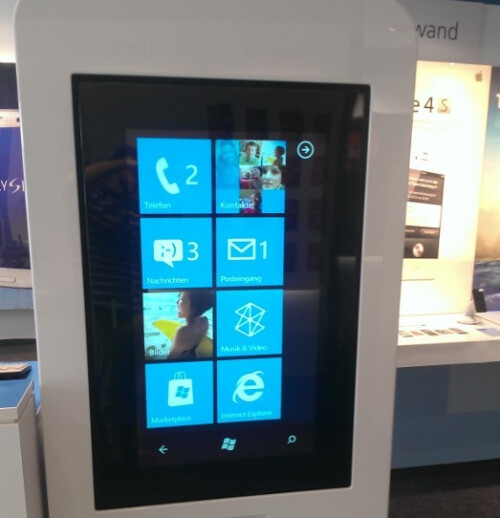 The Windows Phone store inside an O2 location