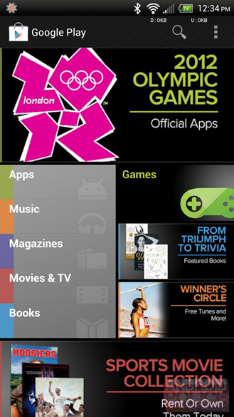 The newly updated Google Play Store