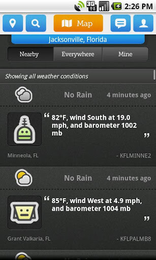 Ourcast uses community updates to bring you real-life weather conditions