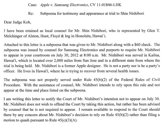 Key witness in Apple-Samsung trial leaves Apple, doesn't ...
