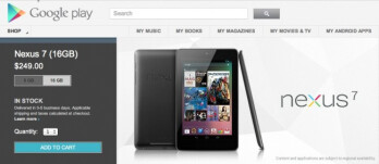 16GB Google Nexus 7 back in stock