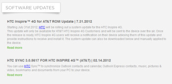 The HTC Inspire 4G is getting an update