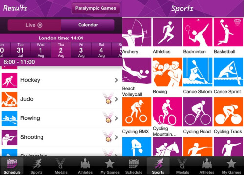 London 2012 Results - Android, iOS - Free