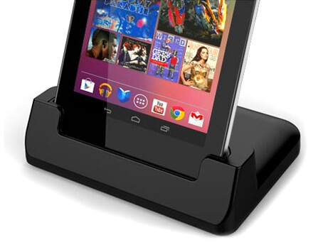 Case-Compatible Desktop Sync and Charge Cradle