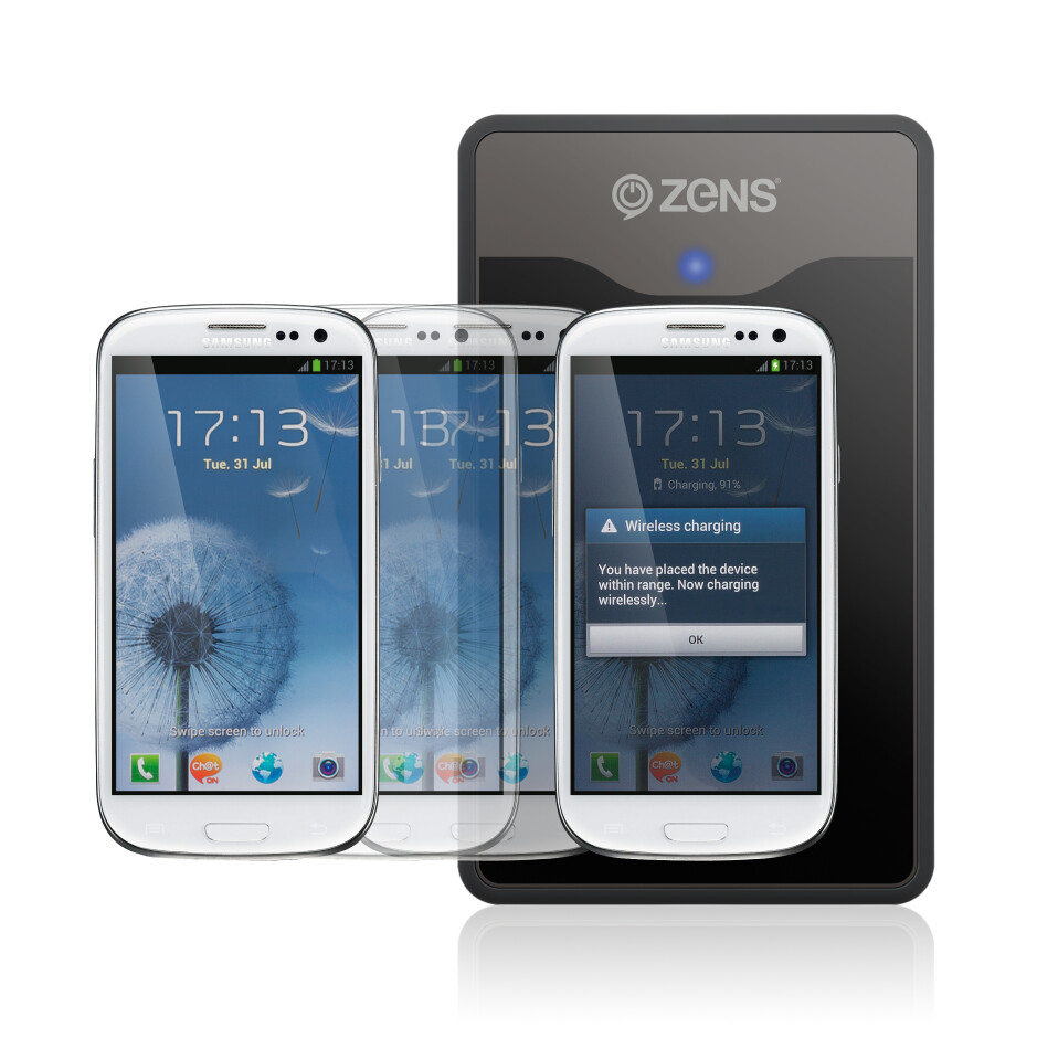 The Zens Samsung Galaxy S III charging kit will be out in September - Samsung Galaxy S III wireless charging kit introduced by Zens