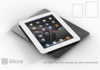 Concept drawing of iPad mini