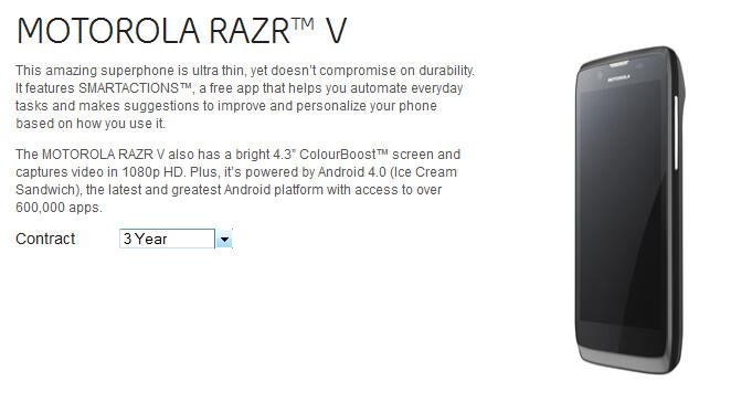 The Motorola RAZR V is now available in Canada from Bell - Canada's Bell rings in the Motorola RAZR V