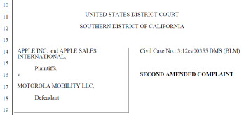 Apple filed Friday with the District Court in Southern California