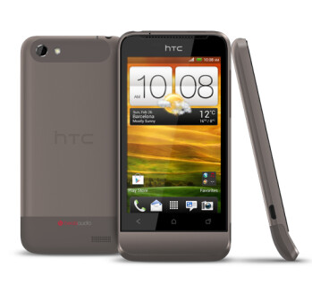 See that chin? It's the HTC One V