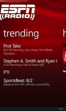 ESPN Radio launches on Lumia handsets