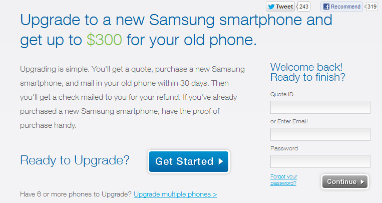 Get as much as $300 for your old phone - Upgrade to a new Samsung smartphone and get paid for your old device