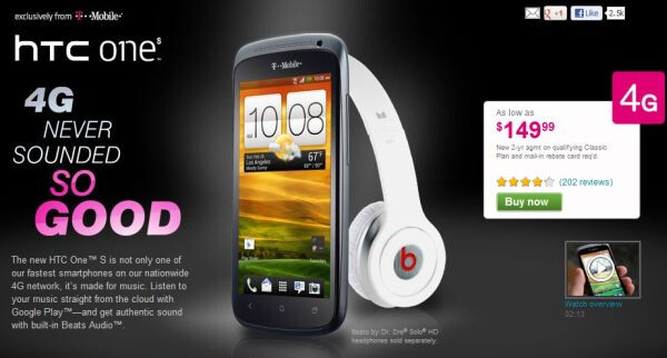 T-Mobile cuts price on HTC One S to $149.99
