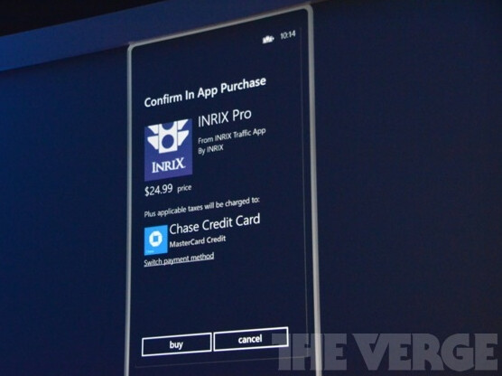 Example of in-app purchasing for Windows Phone - In-app purchasing coming to Windows Phone 8, not before