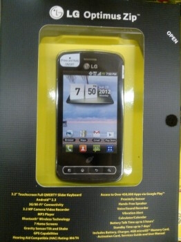 The entry-level LG Optimus Zip