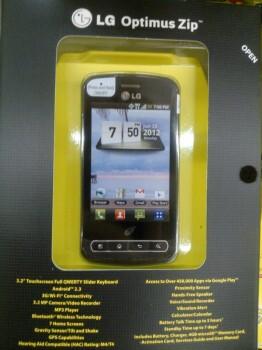 The entry-level LG Optimus Zip