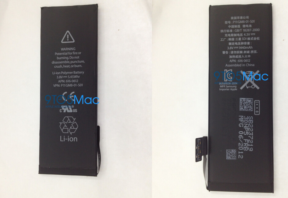 Alleged iPhone 5 battery leaks, capacity barely changed