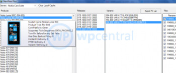 This leaked screenshot of Nokia's server shows the Windows Phone 7.5 Refresh all ready to go for AT&T's Nokia Lumia 900