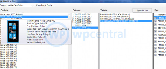 This leaked screenshot of Nokia's server shows the Windows Phone 7.5 Refresh all ready to go for AT&T's Nokia Lumia 900 - Update to Windows Phone Tango ready for AT&T's Nokia Lumia 900?