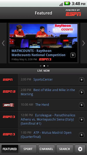 Now sports fans subscribed to Comcast can use the WatchESPN app
