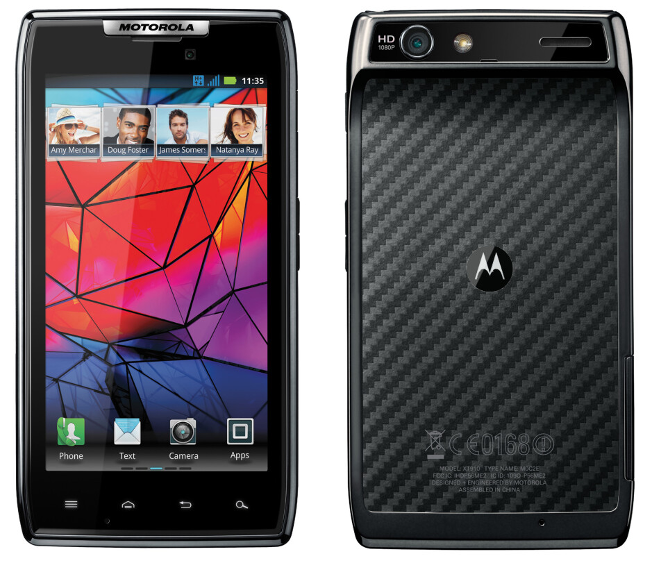 The Motorola RAZR - Select users of GSM Motorola RAZR and Motorola RAZR MAXX are receiving Android 4.0 update