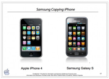 The cover of Apple's October 5th 2010 presentation to Samsung