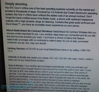 Leaked screenshots point to the eventual launch of Radio Shack Mobile