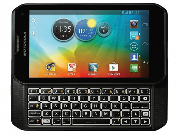 The keyboard on the Motorola PHOTON Q 4G LTE is similar to the one on the Motorola DROID 4 - Pre-orders start today online for Motorola PHOTON Q 4G LTE, priced on contract for $199.99 from Sprint