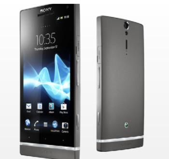 The dark silver version of the Sony Xperia S