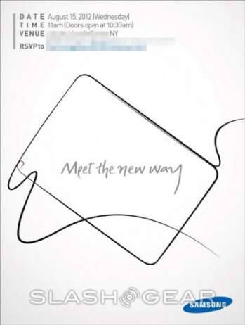 Will we see the introduction of the Samsung GALAXY Note 10.1 on Wednesday?