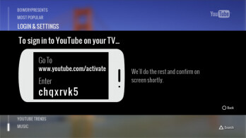 The new YouTube app for PS3 allows you to use your Android phone as a remote