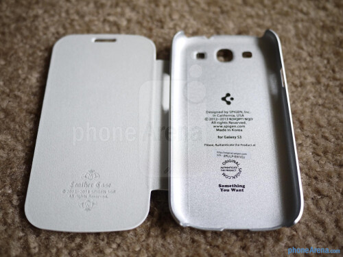 Spigen Samsung Galaxy S III Steinheil Curved Crystal Scree Protector and Ultra Flip Case hands-on