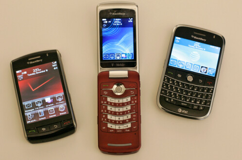 BlackBerry Storm, BlackBerry Pearl Flip,BlackBerry Bold (2008)