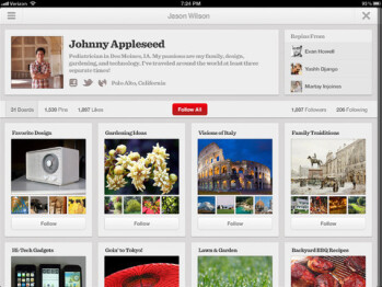 Pinterest for the Apple iPad
