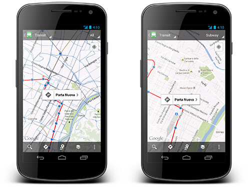 Google Maps getting updated today, touts 1+ million public transit stops